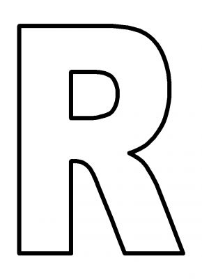Free coloring pages of capital letter r