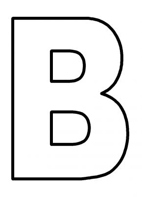 printable letter b outline print letter b printable capital letter b sketch coloring page 570